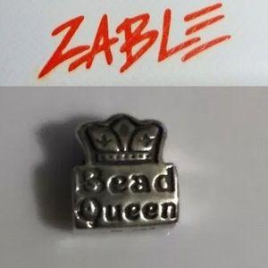 Retired 925 Zable Bead Queen Charm